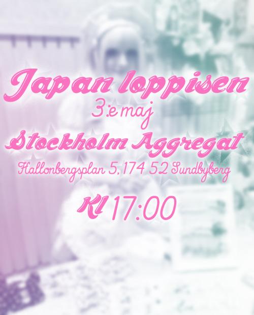 For the Swedes~Ni missar väll inte japan loppisen som är i maj?Jag kommer vara där och sälja mina smycken och min vän Sakura kommer också ha ett bord och sälja peruker och en hel del annat! Kom om ni kan vetja!^_^