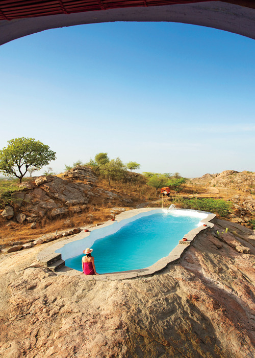 condenasttraveler:  Stunning Hotels in Extreme Locations | Lakshman Sagar, India