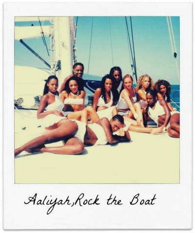 "yourtaurussweetheart:  Aaliyah On the set of ""Rock the Boat"" ~"