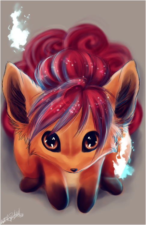 justplayingpokemon:   .: Vulpix :. by WhiteSpiritWolf.