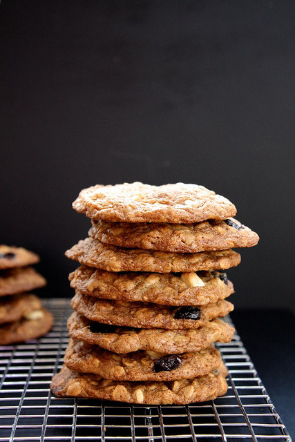 Maple, White Chocolate, and Cherry Oatmeal Cookies