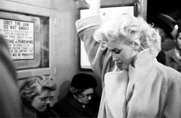 "katuriankaturiankaturian:  beautilation:  ""I'll never forget the day Marilyn and I were walking around New York City, just having a stroll on a nice day. She loved New York because no one bothered her there like they did in Hollywood, she could put on her plain-jane clothes and no one would notice her. She loved that. So as we we're walking down Broadway, she turns to me and says 'Do you want to see me become her?' I didn't know what she meant but I just said 'Yes'- and then I saw it. I don't know how to explain what she did because it was so very subtle, but she turned something on within herself that was almost like magic. And suddenly cars were slowing and people were turning their heads and stopping to stare. They were recognizing that this was Marilyn Monroe as if she pulled off a mask or something, even though a second ago nobody noticed her. I had never seen anything like it before."" - Amy Greene, wife of Marilyn's personal photographer Milton Greene  One of my favorite stories about celebrity."