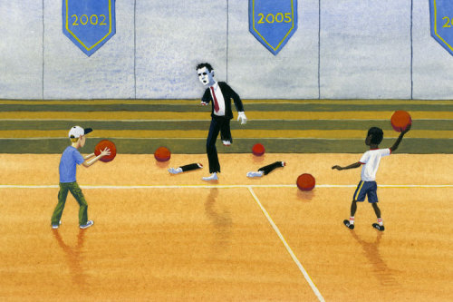 "gregstones:  ""Zombies Hate Dodgeball"" illustration from Zombies Hate Stuff (published by Chronicle Books) Now available as a print"