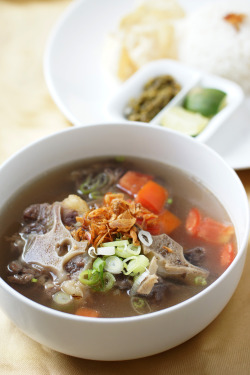 Oxtail Soup One of Indonesia's most favorite dish. Yummy to the max! Photo for Sandwich Time.