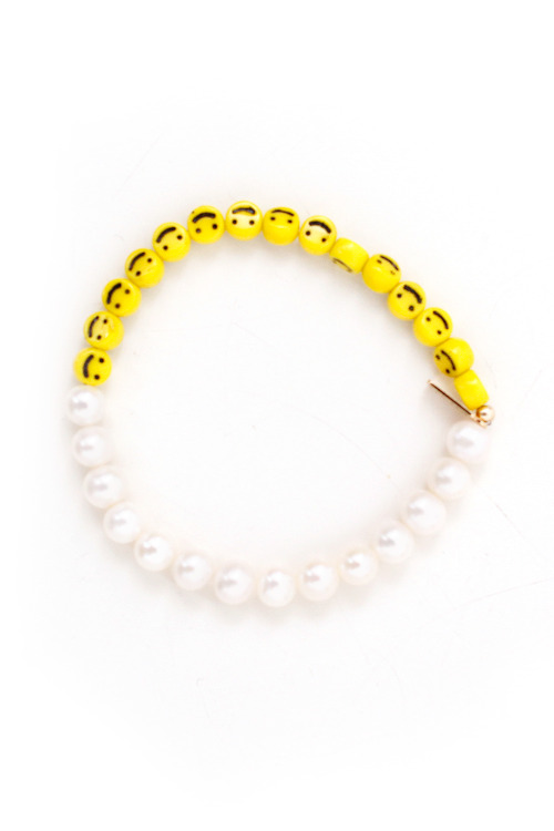 assemblynewyork:  BACK IN STOCK! Nektar de Stagni Pearl and Smiley Face Bracelet / http://bit.ly/18Or1uK  nnnngh