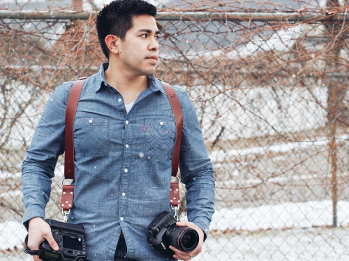 The is @TheJRMagat, a professional wedding photog and user of the MoneyMaker. See more of his work here. He's currently wearing the MoneyMaker in chestnut Bridle Leather.