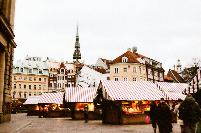| ♕ |  Market square in Riga, Latvia  | by © pruginko