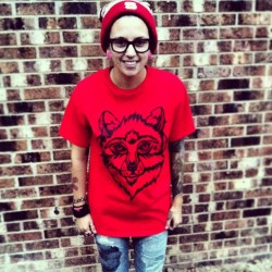 notattoosdienaked:  There are a LIMITED AMOUNT of Red Wolf Tees still available!! Get yours now for $12! Http://notattoosdienaked.bigcartel.com #ntdn #wolves #tattoos #wolf #red  NOW ON SALE FOR $10 !!!