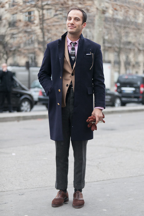 details:  Street Style: Paris Fashion Week, Menswear Fall 2013  Gabriel Zeller