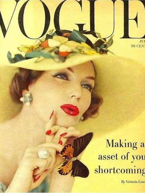 theniftyfifties:  1950s Vogue magazine cover.
