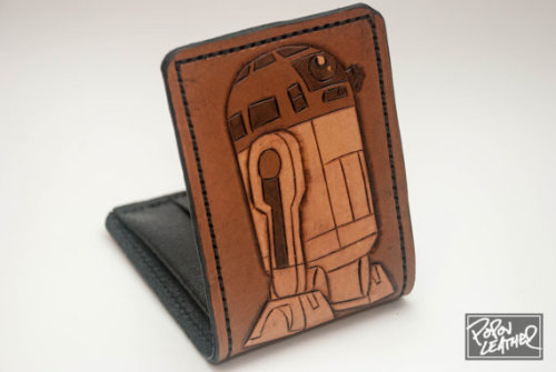(via Star Wars HandMade Leather Wallet R2D2 Made to by PopovLeather)