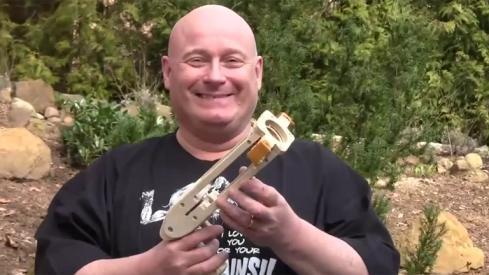 World's First Condom Applicator Slingshot Gun [Video]