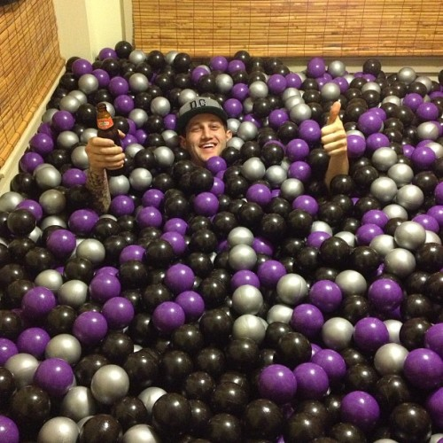 Matt in the ball pit. #boston #abject