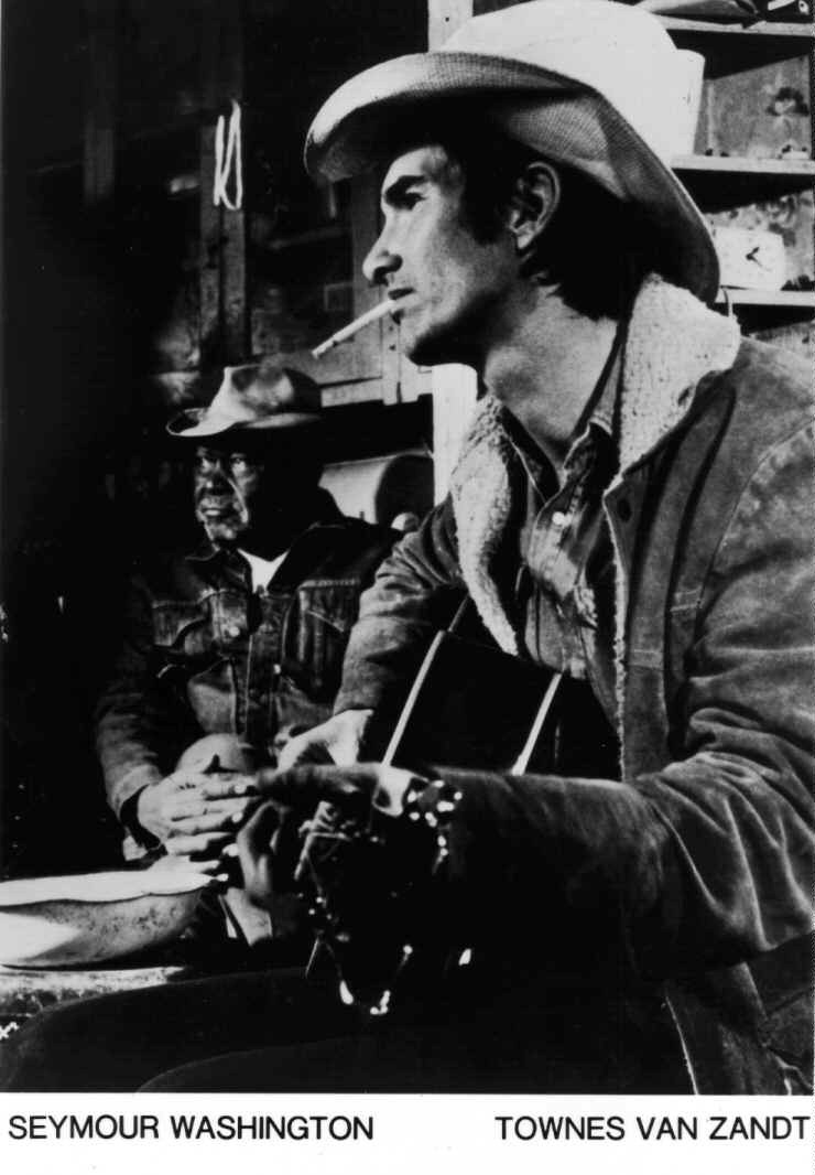 thedevelopingroom:  Townes Van Zandt & Seymour Washington in Heartworn Highways