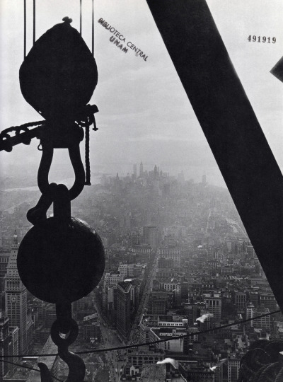 historicalgotham:  Lower Manhattan from Empire State Building Construction Site, New York City c. 1930  (via)