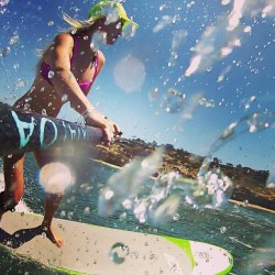 #Sunshine and #surf. @404sup @beoceanminded @roxy @kialoapaddles #ROXYoutdoorfitness #roxydares #paddleboard @drift_innovation