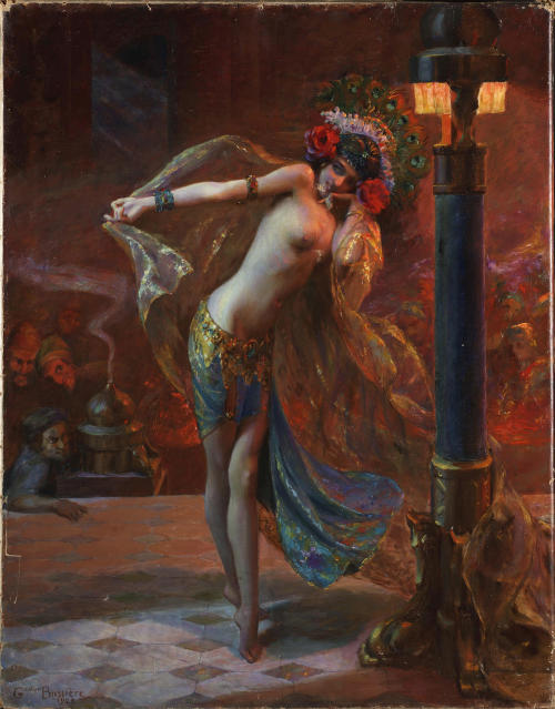 dipot:  Gaston Bussière: Dance of the Seven Veils (1925) The artist made a simplified and somewhat more innocent copy of this painting in the following year.