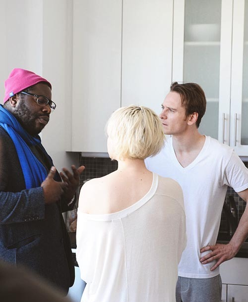 grandefilms:  Steve McQueen with Michael Fassbender and Carey Mulligan on the set of Shame (2011)