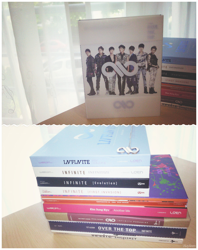 I received my ‹ Over the top › copy today *-* FINALLY, it's been so long since I've been looking for it… even though I'm broke now, I'm happy because Infinite's Korean discography is finally complete *-* ♥