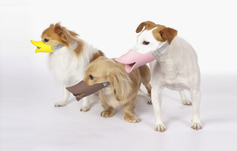 Aren't these the funniest dog muzzles ever? Made by Japanese designer pet supplies company Oppo.