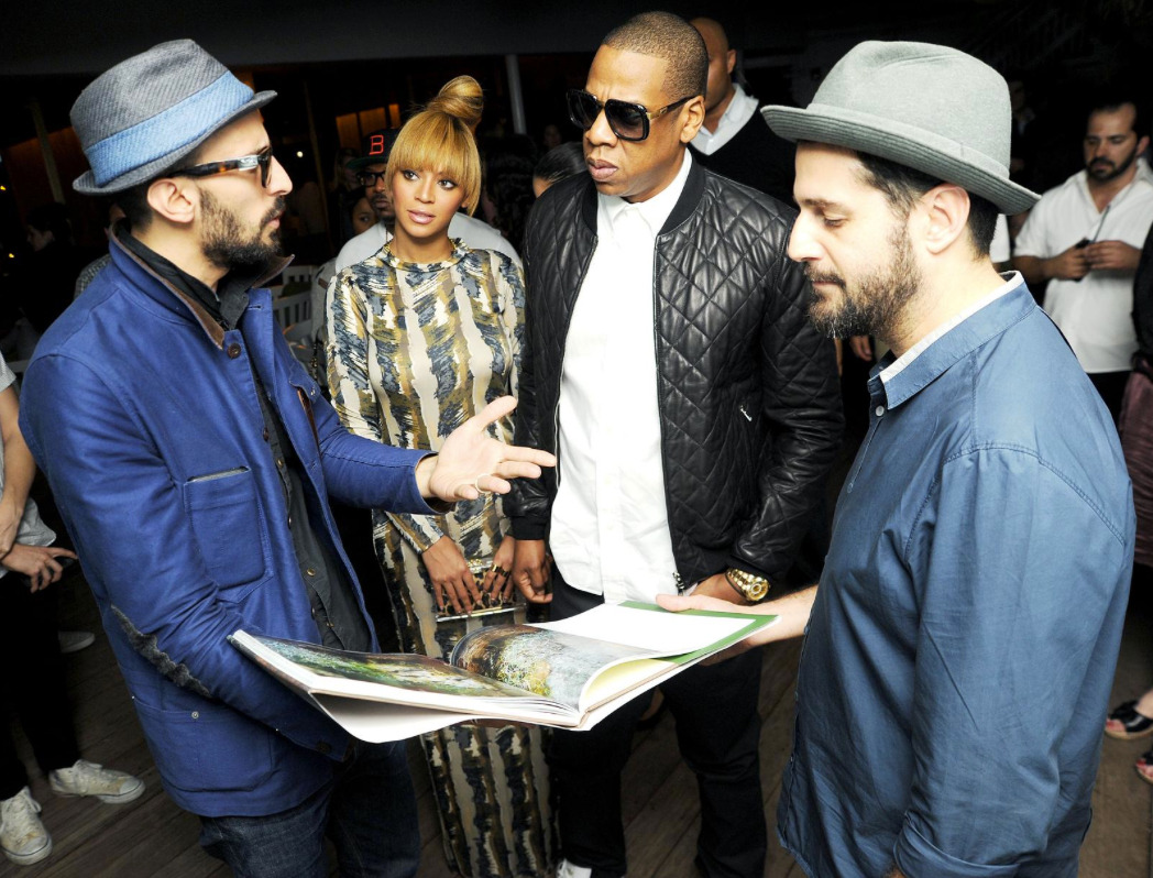 This photo by Billy Farrell of Jay-Z and Beyonce at Art Basel Miami is super official.