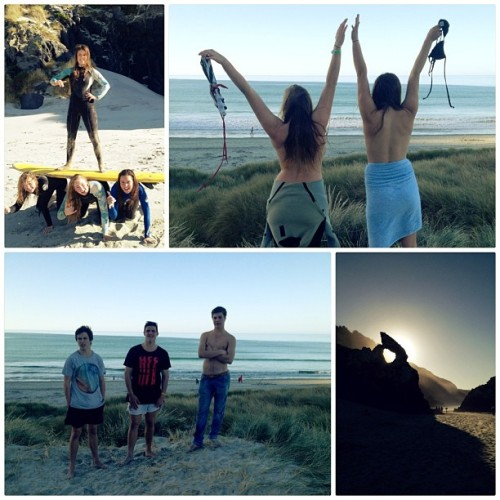 Not a bad weekend team! #shaka 🏄 (at Aramoana Beach)
