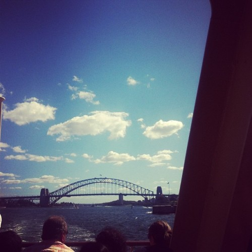Hey Sydney, you're looking pretty good today. Ferry ride to Manly for lunch. #sydney #bridge #sky #cloudporn #igsydney