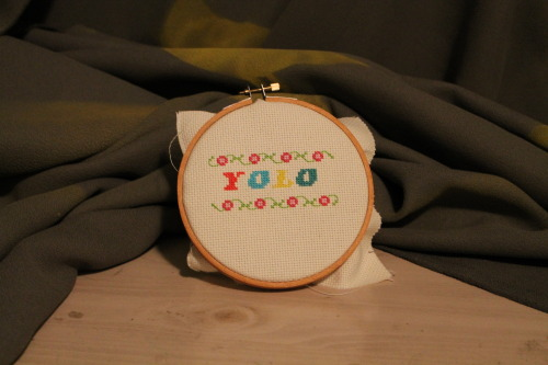YOLO cross stitch by Jillian Baker! New products added to the shop