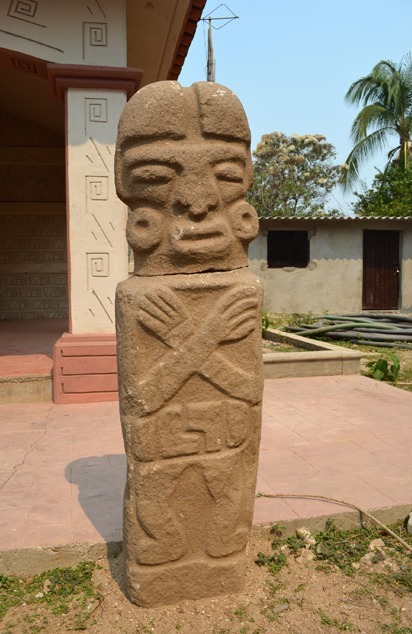 "thinkmexican:  1,000-Year-Old Ball Game Statue Unearthed in Guerrero, Mexico  An ancient granite statue depicting a player from a pre-Hispanic ball game, which could be over 1,000 years old, was discovered recently in the pre Hispanic site of Piedra Labrada, in the municipality of Ometepec, Guerrero. This element was a part of one of the five spaces registered in the area, dedicated to the practice of this ancient ritual; it is also one of the biggest located in the Costa Chica region.  The finding took place some weeks ago, when members of a community settled in the surrounding area were installing a water pipe. This event was reported to the National Institute of Anthropology and History (INAH) in that entity.  This element was discovered in the north section an area where the biggest ball game platform is located. The ball game court has an ""I"" shape and is up to 40 meters [131.23 feet] long.  Read more at Art Daily"