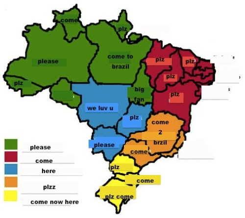 our-lord-disick:  actual map of brazil
