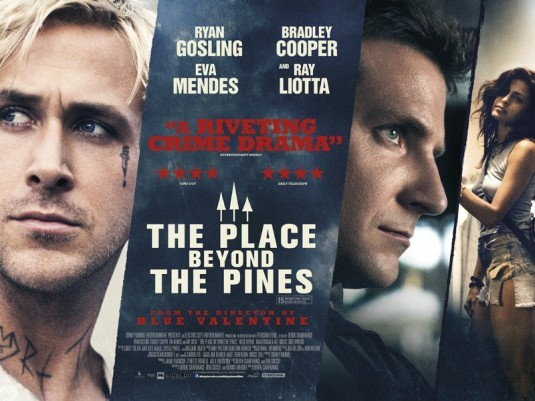 REVIEW: THE PLACE BEYOND THE PINES If Derek Cianfrance's Blue Valentine was an intimate, heartbreakingly hopeless look at the slow disintegration of love, his latest film, The Place Beyond the Pines, is a sprawling, heady generational drama with tragedy and a glimmer of hope. Co-written by Ben Coccio and Darius Marder with Cianfrance, the film is the director's less concentrated but most ambitious so far and, flaws and all, it's an intoxicating, absorbing, and affecting saga of guilt, fate, and fathers and sons CLICK HERE TO READ THE FULL REVIEW AT FESTIVAL OF FILMS