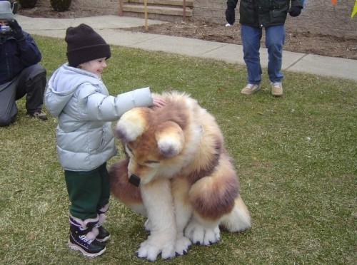fedorapunk:  I thought this was a really large dog for a second, but then the realization hit me.