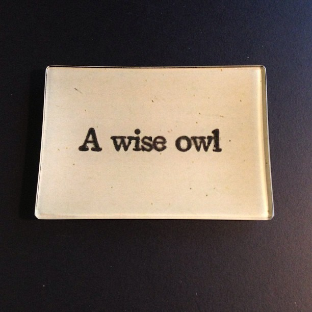 Thank you @verychristine .  It i known I am a lover owls but not known is i am a huge fan of @johnderian too.  Perfect.