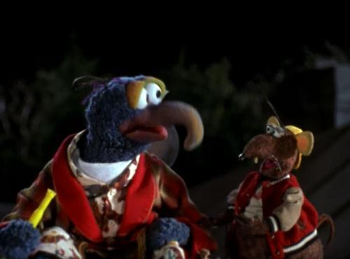 Muppet Treasure Island (1996) - May 3  Rizzo: What's wrong? Gonzo: It just feels so weird. Rizzo: You mean that Mr. Arrow's dead? Gonzo: Yeah, that… and my pants are filled with starfish. Rizzo: You and your hobbies.