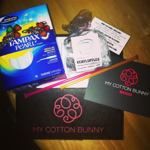 @mycottonbunny I'm never disappointed with the stuff i get every month. Can't wait to try the #kerfluffles and the #honeysticks for my tea :) #mycottonbunny
