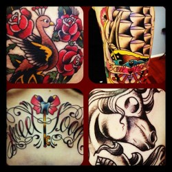 And just a few of the zaps I did this week at @trailertrashtattoo  #tattoo