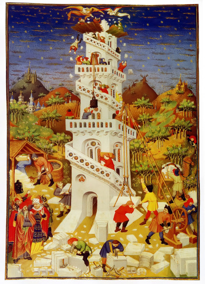 ifthisbemagic:  Building of the Tower of Babel by Bedford Master