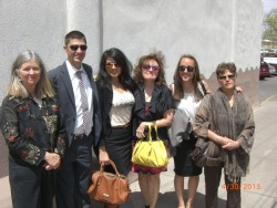 santa fe family, co-workers, and chicago family @ swearing-in ceremony in santa fe, nm