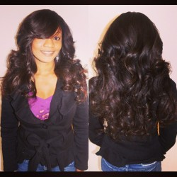 My client Oy — full weave with handmade closure.  Brazilian hair 3 bundles, 18/14/12 inches. #hairstylist #sewin #weave #brazilianhair #nigerian