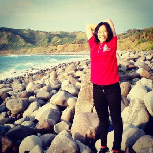 Le me derping at the beautiful Batanes. :D