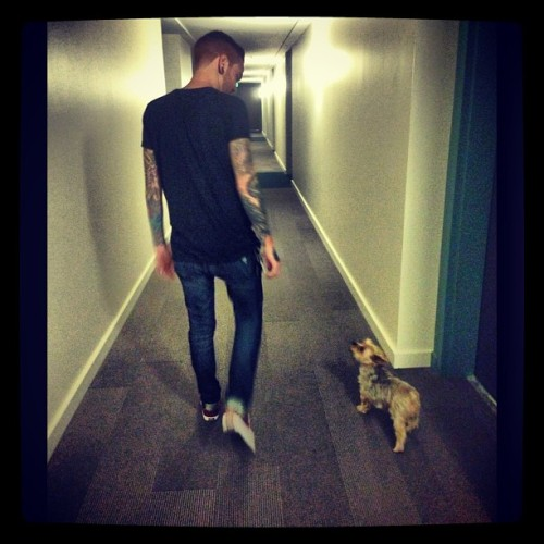 therealmattymullins:  Just mobbin w/ my little dude 👱🐶❤