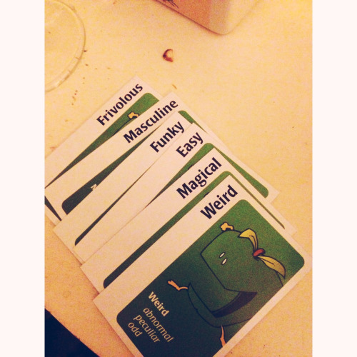 Apples to Apples hand last night