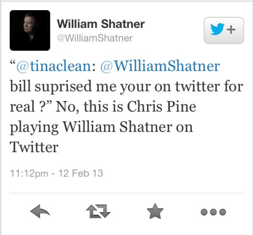 "luvmoonsurfacecpine:  lumberjacks-and-vatican-cameos:  William Shatner is god and you can't tell me otherwise.  luvmoonsurfacecpine:…really Mr. Shatner loves ""blue eyes""! ;-)"