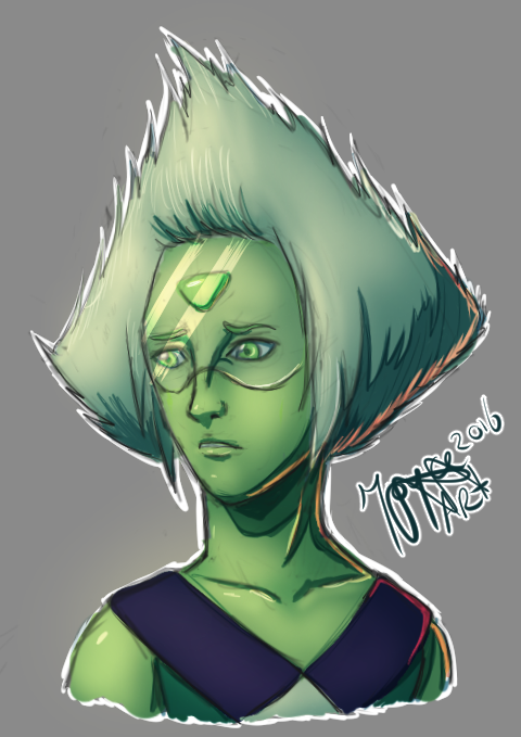 I felt a bit meh, drew sad Peri, decided to color it. Starting to get more and more comfortable about this drawing/coloring style