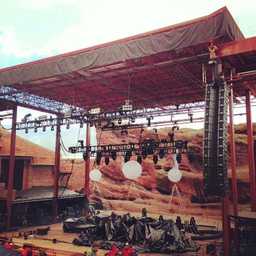 set uppppp  (at Red Rocks Park & Amphitheatre)