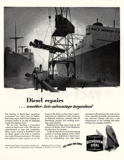 patgavin:  Bethlehem Steel Diesel Repair ad from the WWII era.
