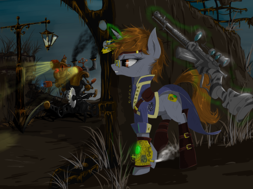 -Steam and Magic by MadHotaru Steampunk Fallout Equestria. That's it, my objective in this world is complete. Goodbye internet, thanks for all the fish.