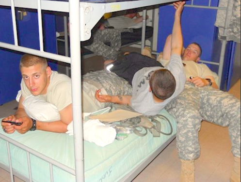 military bros know all about it..  what personal space? we don't need no personal space…     'topher :)  BestOfBromance@gmail.com - Twitter @BestOfBromance - BestOfBromance@gmail.com