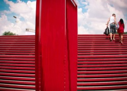 "(via ""red ladder toward ace clouds… - Street Photography)"