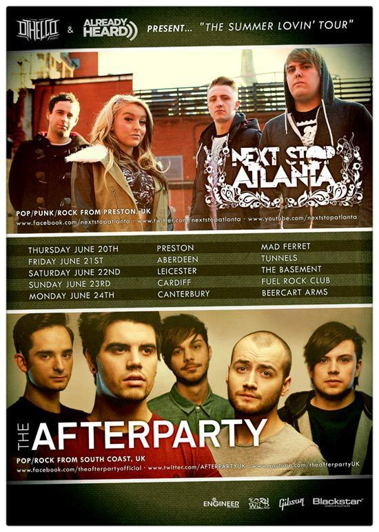 Next Stop Atlanta & The Afterparty are hitting the road together this June, and you can check out the dates on the image provided!